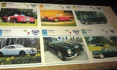 LANCIA  Cars  Colour Collector Cards x 10   PRE 1960