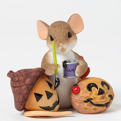 Charming Tails Mouse Nuttin' Like Your Smile 4041159 Fall Autumn NEW