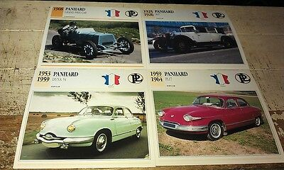 PANHARD  Cars  Colour Collector Cards x 4