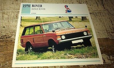 RANGE ROVER   Colour Collector Card