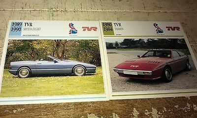 TVR Cars Colour Collector Cards x 2