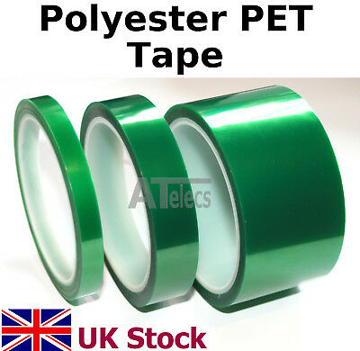 Polyester PET Tape 33M length, self adhesive, heat resistant  - UK Stock