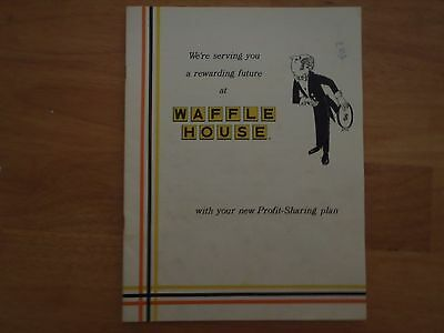 Waffle House® Profit-Sharing Plan Brochure from 1983 31 YEARS OLD rare