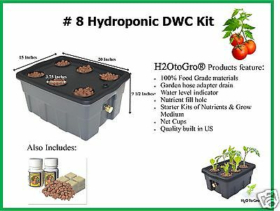 # 8 6 Site ~ Deep Water Culture Hydroponic GROW BOX  by H2OToGro