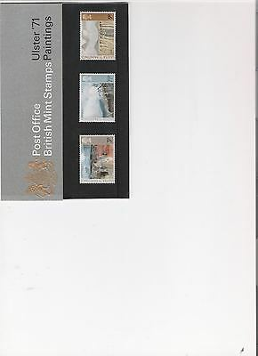 1971 Royal Mail Presentation Pack Ulster Paintings Mint Decimal Stamps