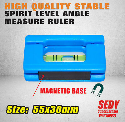 Mini Spirit Level Magnetic Angle Measure Ruler String Line Leveler Pocket Size