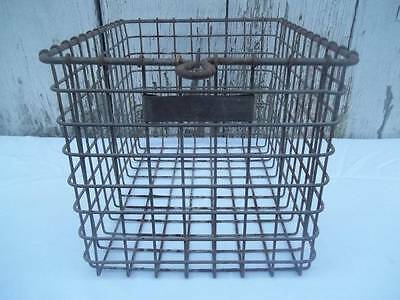 Vtg American Wire Form Co. Jersey City N.J. Galvanized Wire Gym Pool Basket 131