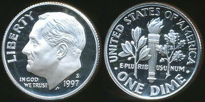 United States, 1997-S Dime, Roosevelt (Silver) - Proof