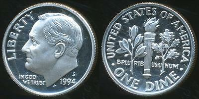 United States, 1994-S Dime, Roosevelt (Silver) - Proof