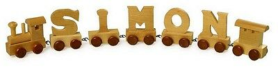 Personalized Wooden Train Letter Alphabet Kids Bedroom Decor Wood Quality New