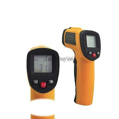 Temperature Thermometer Gun Non-Contact LCD IR Laser Infrared Digital Pyrometer