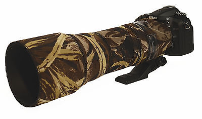 Tamron 150 600mm Neoprene Lens Protection Camouflage Cover : Premium Brown camo