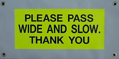 Hi Viz Horse Driving Carriage Road Safety Banner Attach To Rear of Vehicle