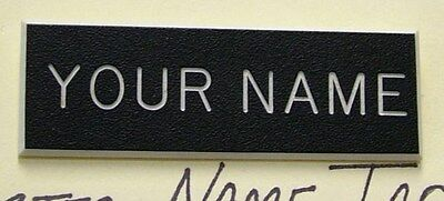 Black Engraved Name Tag For Us Army Dress Uniform