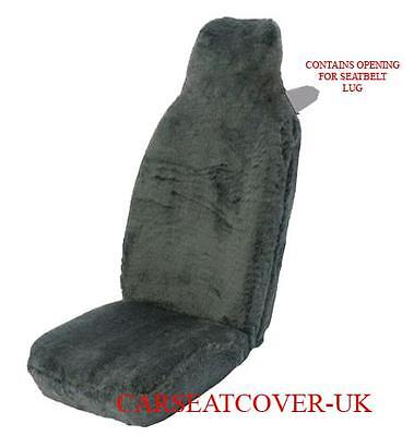 Smart ForTwo - Premium Grey Faux Fur Car Seat Covers- 2 x Fronts