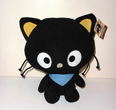 "Sanrio Hello Kitty Chococat 15"" black plush cat 2011 Fiesta w/ tag"