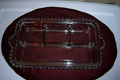 """Imperial CANDLEWICK CRYSTAL *12"""" 4-PART RELISH* 400/215"""