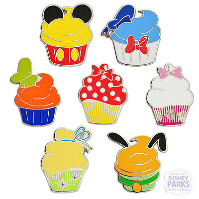 Disney Parks Character Cupcakes Cupcake Booster Pins Parks Trading Pin Set Pack