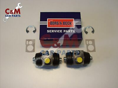 Rear Brake Wheel Cylinder Pair Riley Elf & Wolseley Hornet 1959-64 - Borg & Beck