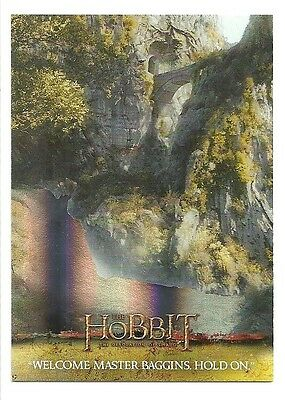 2015 The Hobbit Desolation of Smaug Silver Foil Card # 18