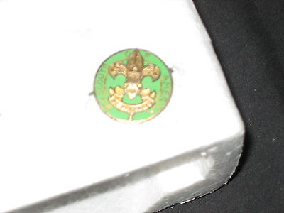 Assistant Scoutmaster Collar Brass Pin, hooked clasp   c14