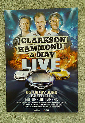 CLARKSON HAMMOND & MAY LIVE Tour/Concert Flyer Sheffield BBC TV TOP GEAR Jeremy