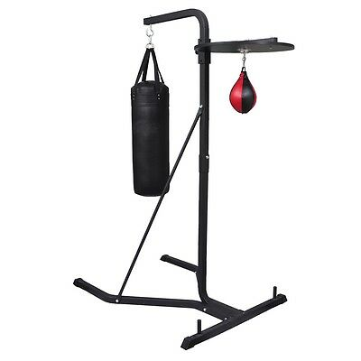 New Boxing Machine 2 Way Boxing Stand Training Punch Bag Ball Speedball Plate
