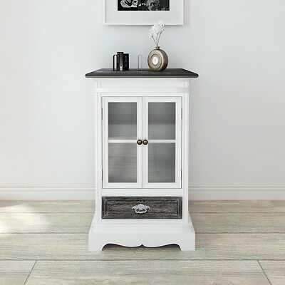 NEW Cabinet 1 Drawer 2 Doors White Wood Cupboard Storage Cabinet High-quality