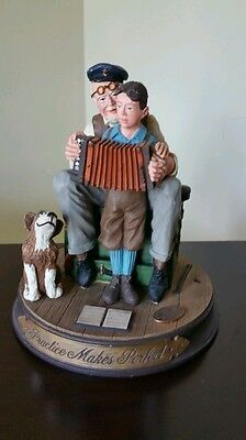 """Norman Rockwell's """"Practice Makes Perfect""""  Figurine, Gems of Wisdom Collection"""