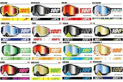 New 100% Racecraft Mirror Lens Motocross Goggle Free Express Delivery