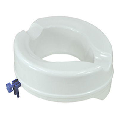 """Aidapt Raised Toilet Seat  4"""" Without  Lid Elevated Mobility Disability Aid Seat"""