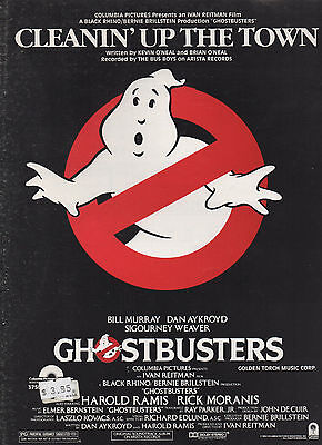 Bus Boys sheet music Cleanin' Up the Town  from film GHOSTBUSTERS '84 7 pp. (NM)