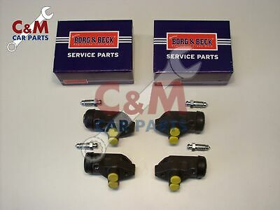 FRONT BRAKE WHEEL  CYLINDER  SET OF FOUR  for  RELIANT REBEL -  BORG & BECK
