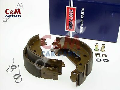 REAR BRAKE SHOES SET of 4  for FORD FIESTA mk 1 - 1975-1983 178mm - BORG & BECK