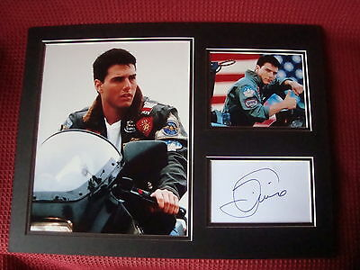 "Tom Cruise Legend ""top Gun"" Authentic Hand Signed A3 Mounted Photo Display - Coa"