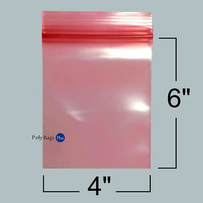 "USA MADE 4-Mil Pink 4"" or 6"" Antistatic Poly Tubing MIL-PRF-81705E"