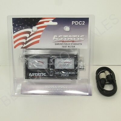 Astatic Pdc2 Swr / Rf / Field Strength Test Meter With 3` Ft Jumper