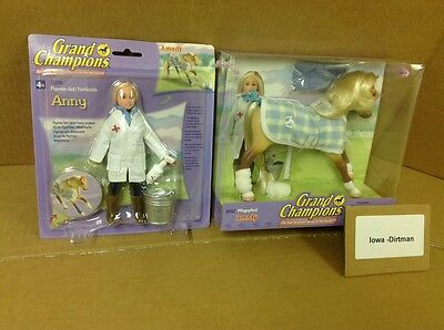 Grand Champions Amady Horse 26212 & Anny  26209 Match Play Set New Vintage