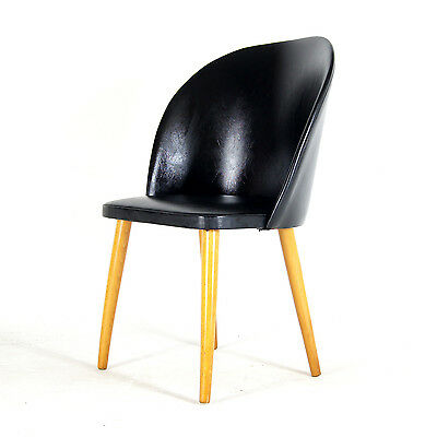 Retro Vintage Danish Modern Oak Desk Cocktail Side Chair Armchair 50s 60s 70s