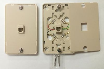 1/ NC-630A 4C IV Wall Phone Jack 4C Mounting Plate w/Screw Terminals
