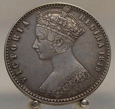 1849 Great Britain Silver 1 Florin, Old World Silver Coin. 1 Tenth Of A Pound
