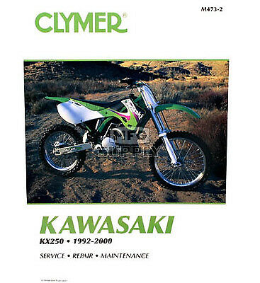 Clymer Kawasaki Kx250 1992-2000 (M4732) Will Be Superceded By M4732