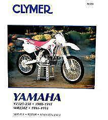 Clymer Yamaha Yz125-250; 1988-1993 And Wr250Z 1991-1993 (M391)
