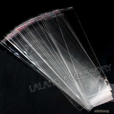 300x Wholesale Plastic Clear Jewellery Package Self Adhesive Seal Bags Finding Q