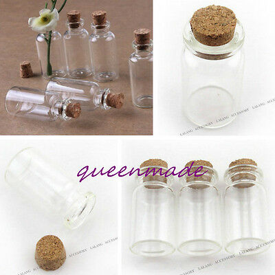 8pcs New Clear Empty Love Message Wishing Vial Bottle Finding Collectables Hot Q