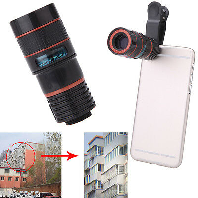 8X Zoom Phone Telephoto Camera Lens with Clip Universal mobile phone telescope