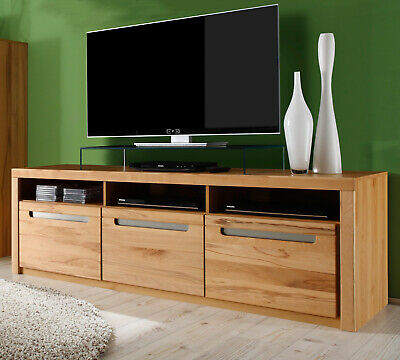 tv board lowboard kern buche massiv fernseh tisch fernseh hifi m bel zino 178 cm eur 354 99. Black Bedroom Furniture Sets. Home Design Ideas