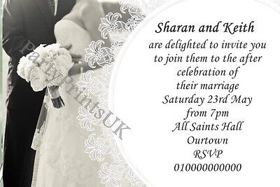 50 Personalised Wedding Invitations Or Evening Reception