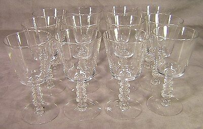 12 Tiffin Water Goblets ~ Stem #17301 ~ Plain ~ no cutting or etching