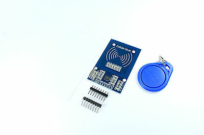 MFRC-522 RFID Set IC inductive module card key fob headers SPI Flux Workshop